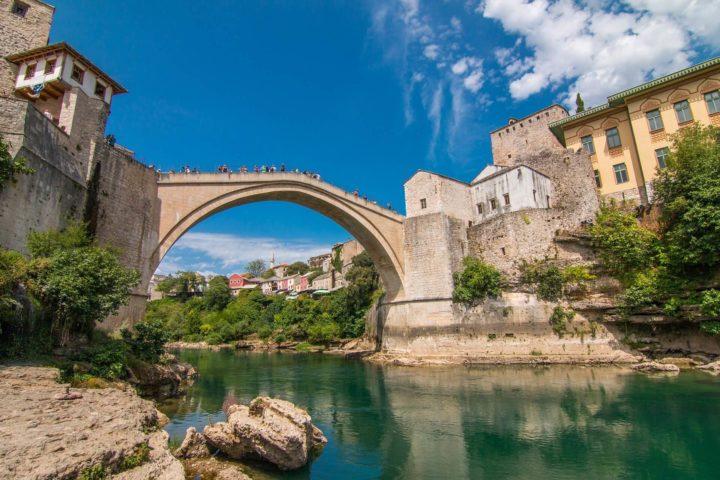 【世界遺産】モスタル旧市街の古い橋の地区