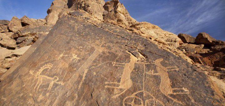 サウジアラビアのハーイル地方の岩絵