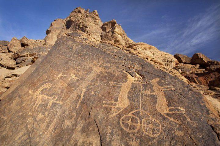 世界遺産・サウジアラビアのハーイル地方の岩絵