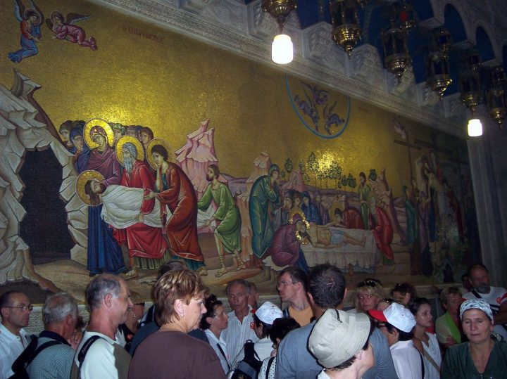 photo credit: Mural in the Church of the Holy Sepulchre via photopin (license)