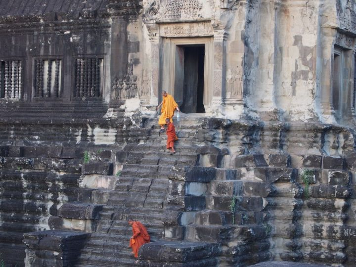 photo credit: Monks descending staircase via photopin (license)