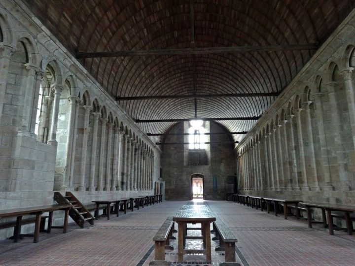photo credit: Refectory Mont St. Michel Abbey France via photopin (license)