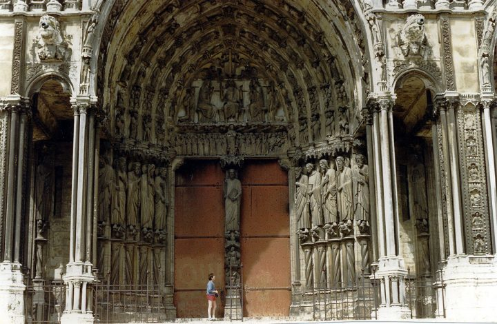 photo credit: John at the Great Door of Chartres Cathedral, 1987 via photopin (license)