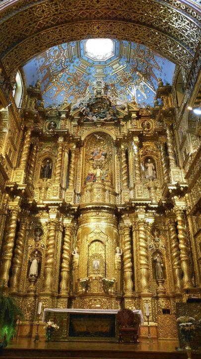 ラ・コンパニーア聖堂|キトの市街2