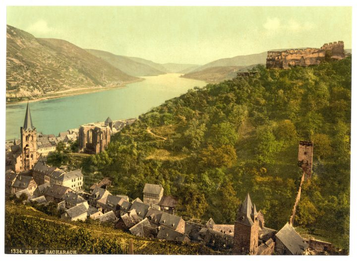 photo credit: Bacharach and ruins of Stahleck, the Rhine, Germany-LCCN2002714053 via photopin (license)