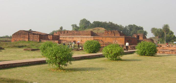ビハール州ナーランダ―のナーランダ・マハーヴィハーラ(ナーランダ大学)の考古遺構
